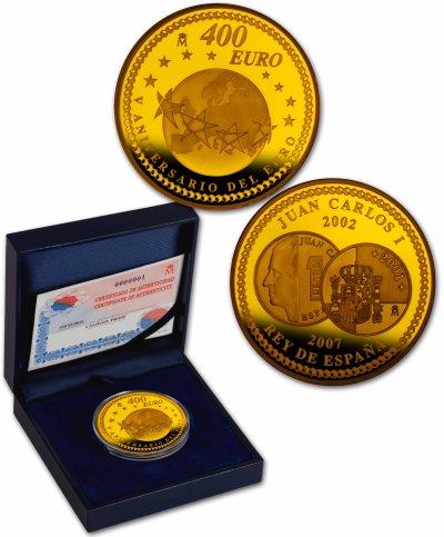 400 Euro Goldmünze - 5 Jahre Euro