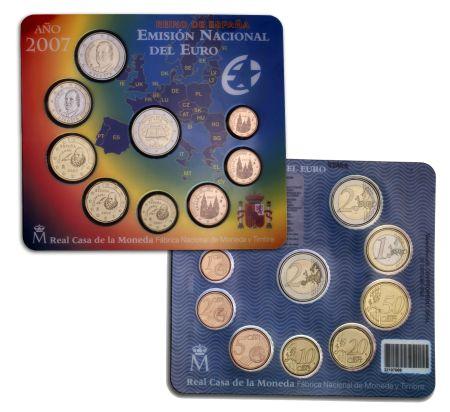 Spanien Kursmünzensatz 2007