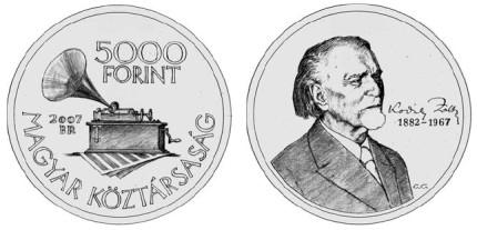 5000 Forint Gedenkmünze Zoltán Kodály 2007