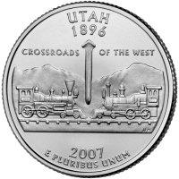 State Quarter Utah 2007
