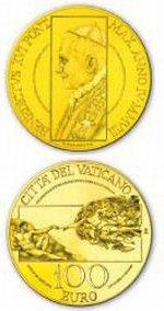100 Euro Goldmünze Vatikan 2008