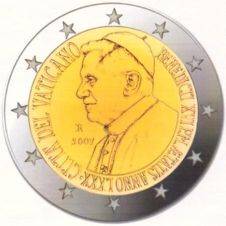 2 Euro Münze 80. Geburtstag Papst Benedikt XVI. 2007