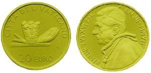 Gedenkmünze Eucharistie Vatikan