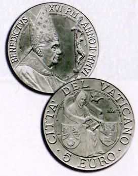 5 Euro Gedenkmünze Vatikan 2006