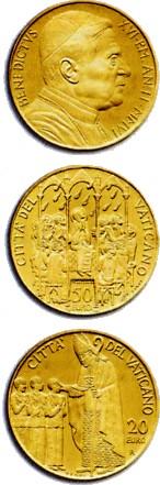 20- und 50 Euro Goldmünze Vatikan 2004