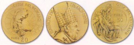 Goldmünzen Vatikan 2008