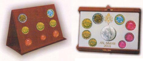Vatikan Kursmünzensätze 2008