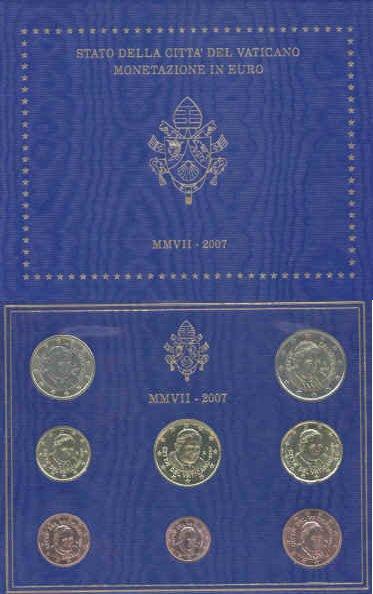 Vatikan Kursmünzensatz 2007
