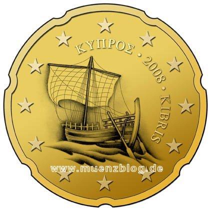 10-, 20- und 50 Cent Münzen Zypern